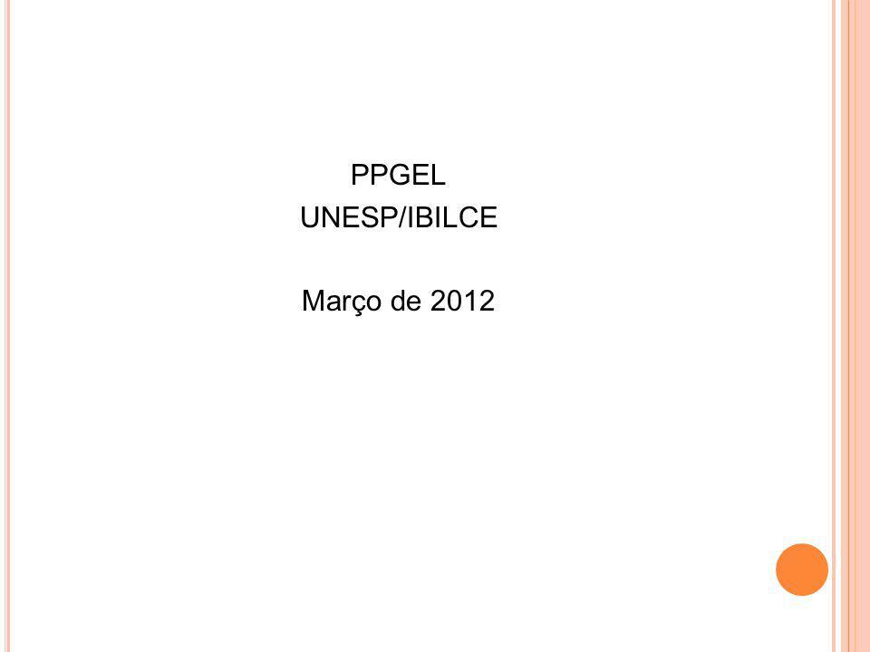PPGEL UNESP/IBILCE Março de 2012