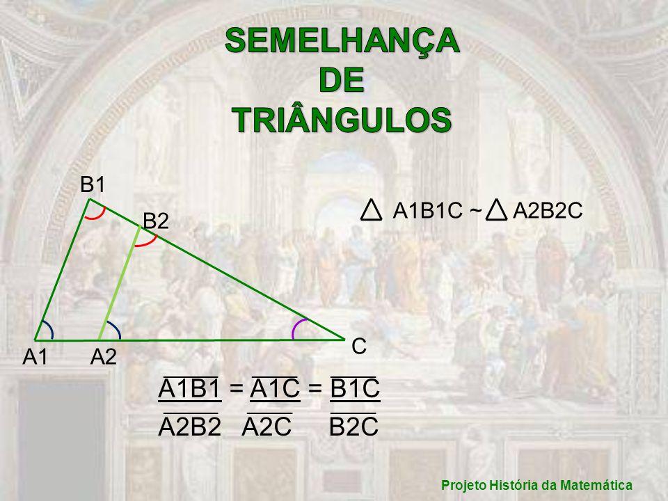Projeto História da Matemática B1 B2 A1B1C ~A2B2C A1B1 = A1C = B1C A2B2 A2C B2C ______ _____ _____ A1A2 C