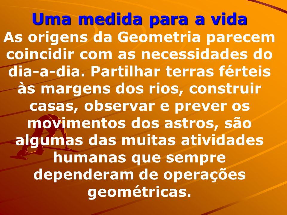 Os homens já praticavam geometria muito antes da matemática existir como ciência, tal como a entendemos hoje. Milhares de anos atrás, quando o homem e