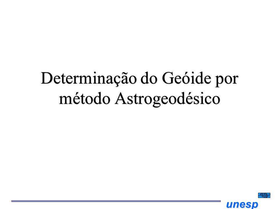 unesp Determinação do Geóide por método Astrogeodésico