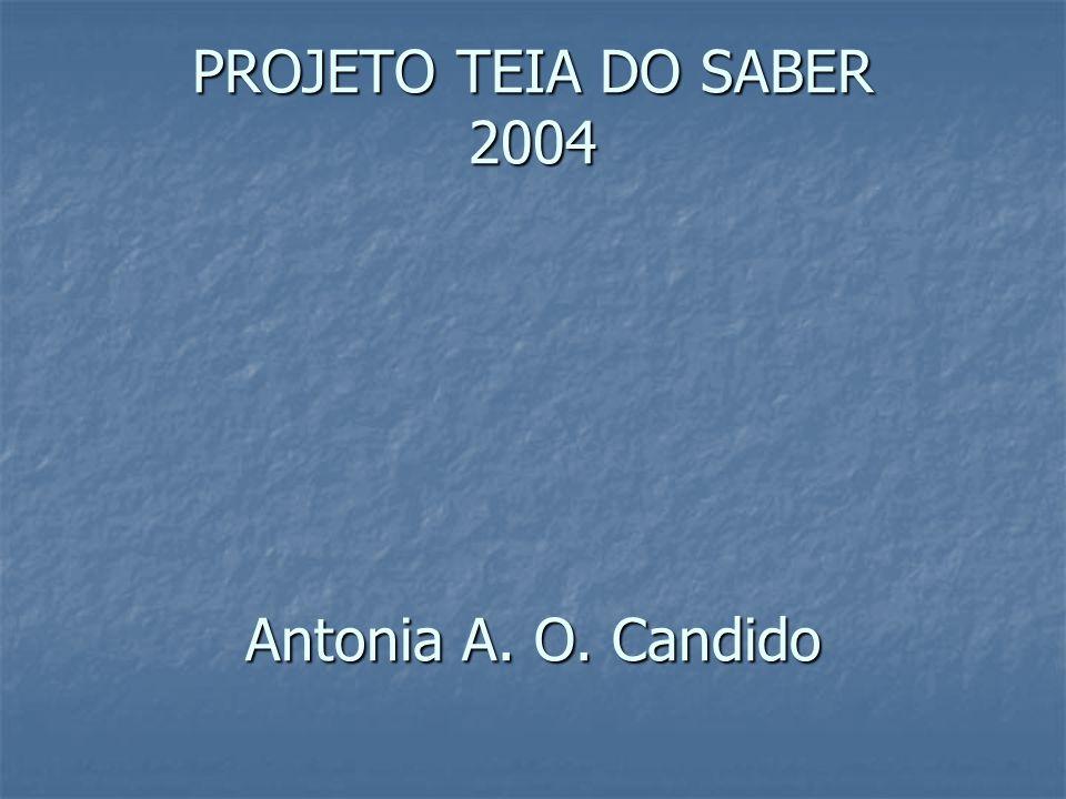 PROJETO TEIA DO SABER 2004 Antonia A. O. Candido