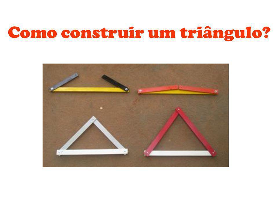 Como construir um triângulo?