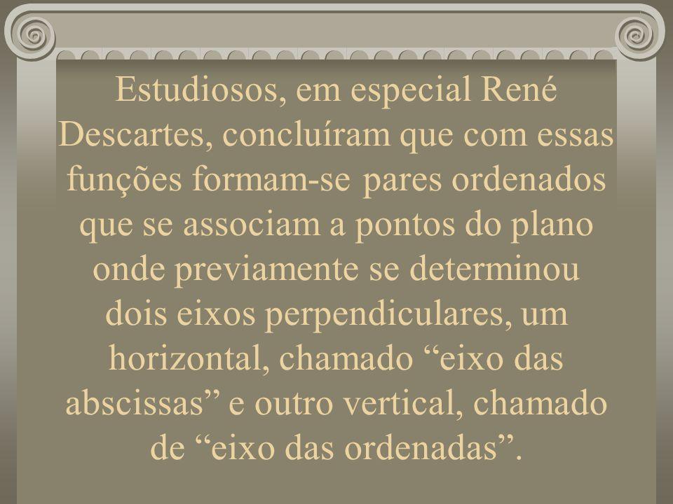 Estudiosos, em especial René Descartes, concluíram que com essas funções formam-se pares ordenados que se associam a pontos do plano onde previamente