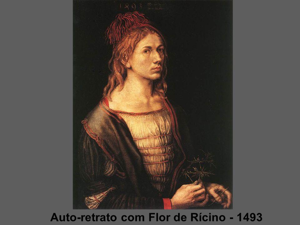 CURIOSIDADES: Em alguns quadros Dürer coloca sua assinatura como se fosse parte integrante da cena.