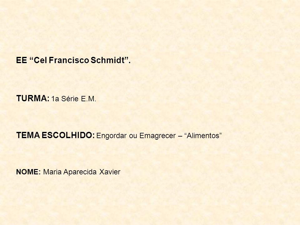 EE Cel Francisco Schmidt.TURMA: 1a Série E.M.