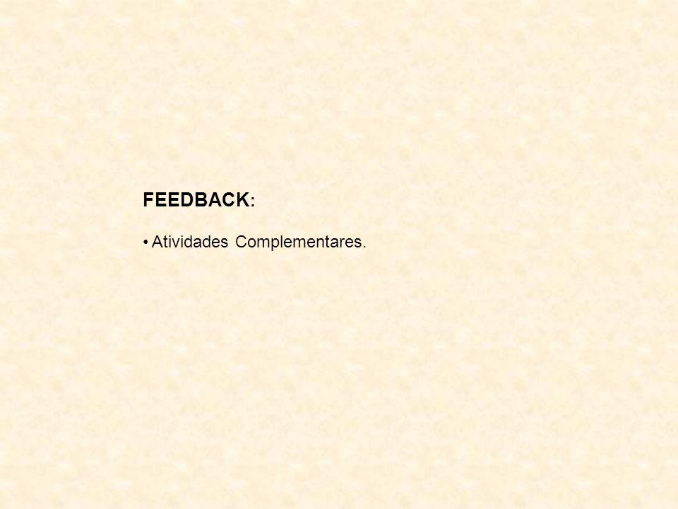 FEEDBACK : Atividades Complementares.