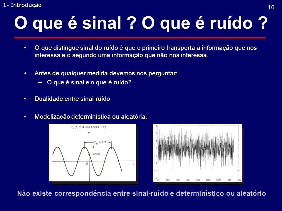 O que é sinal .O que é ruído .