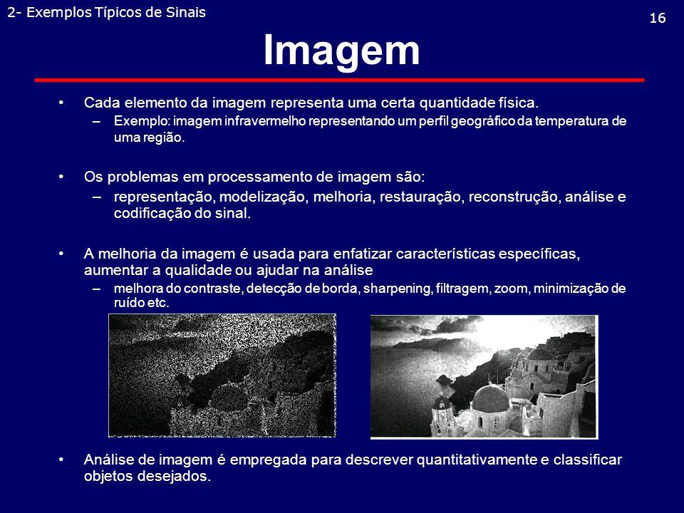 Imagem Cada elemento da imagem representa uma certa quantidade física.