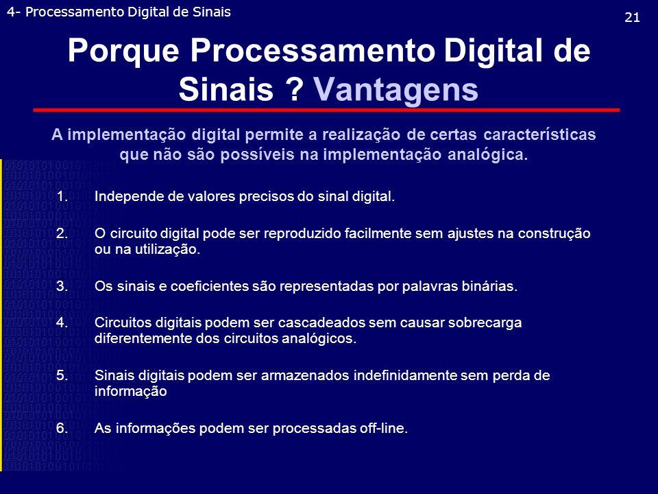 Porque Processamento Digital de Sinais .