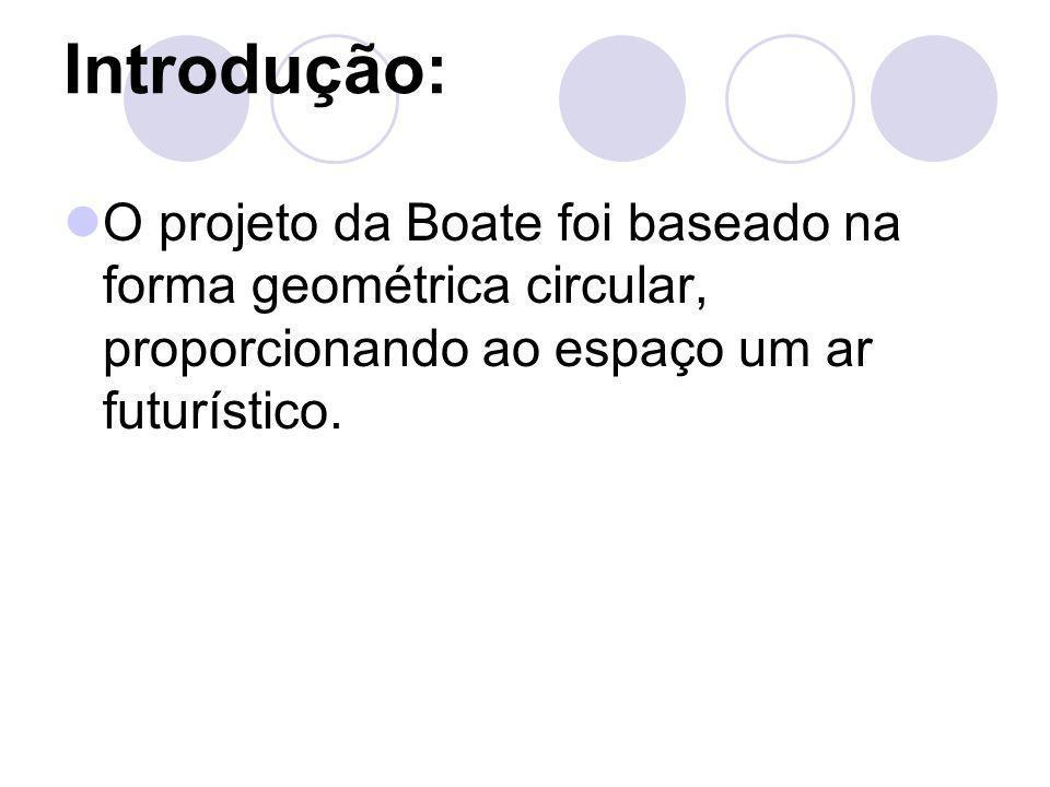 Introdução: O projeto da Boate foi baseado na forma geométrica circular, proporcionando ao espaço um ar futurístico.
