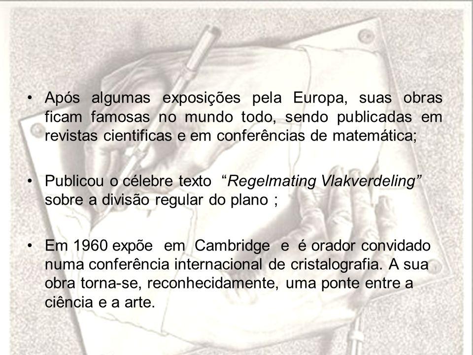 Após algumas exposições pela Europa, suas obras ficam famosas no mundo todo, sendo publicadas em revistas cientificas e em conferências de matemática;