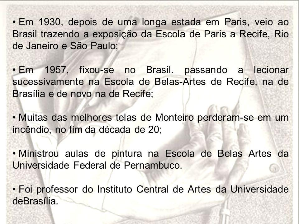 Em 1930, depois de uma longa estada em Paris, veio ao Brasil trazendo a exposição da Escola de Paris a Recife, Rio de Janeiro e São Paulo; Em 1957, fi
