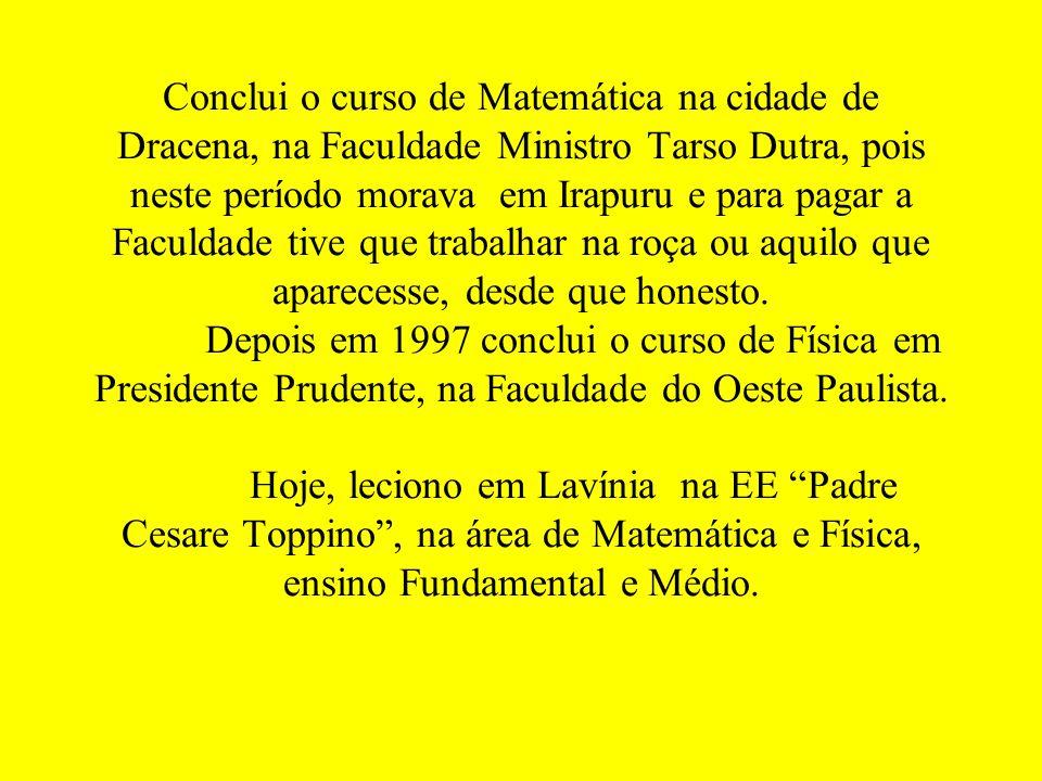 Eu, Edmilson Teixeira Lopes nascido em 01/03, natural da cidade de Irapuru, estado de São Paulo, hoje resido em Mirandópolis. Trabalhei como officeboy