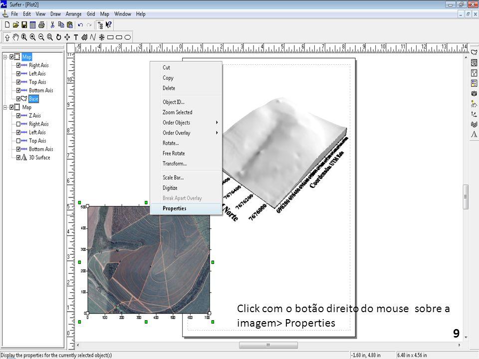 9 Click com o botão direito do mouse sobre a imagem> Properties