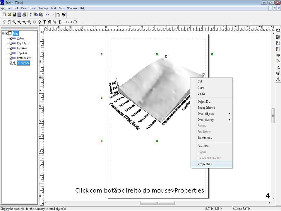 4 Click com botão direito do mouse>Properties