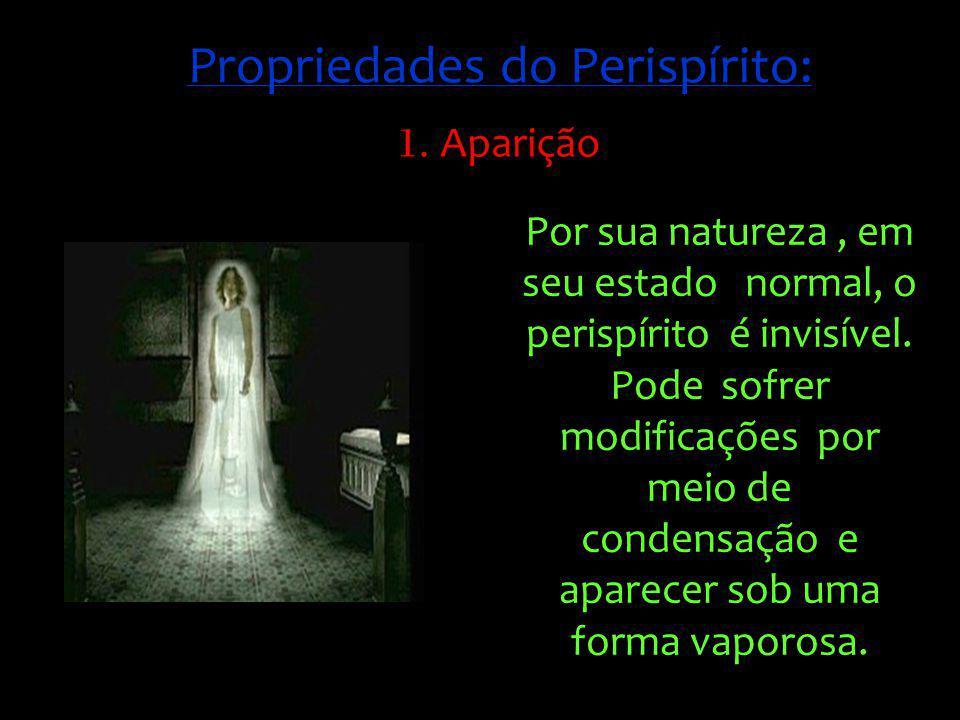 Conforme o grau de condensação do fluído perispiritual, pode, mesmo, chegar até, à tangibilidade real, ao ponto de o observador se enganar com relação à natureza do ser que tem diante de si.