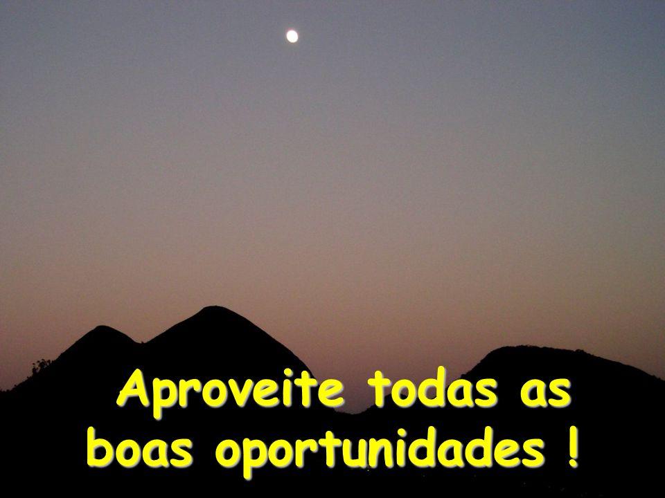 Aproveite todas as boas oportunidades ! Aproveite todas as boas oportunidades !