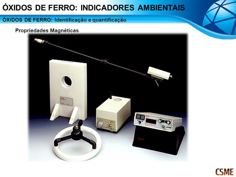 ÓXIDOS DE FERRO: Identificação e quantificação Propriedades Magnéticas ÓXIDOS DE FERRO: INDICADORES AMBIENTAIS