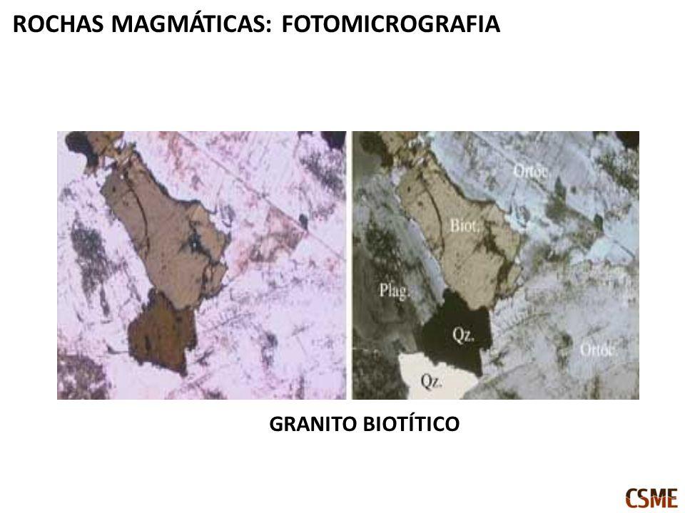 GRANITO BIOTÍTICO ROCHAS MAGMÁTICAS: FOTOMICROGRAFIA