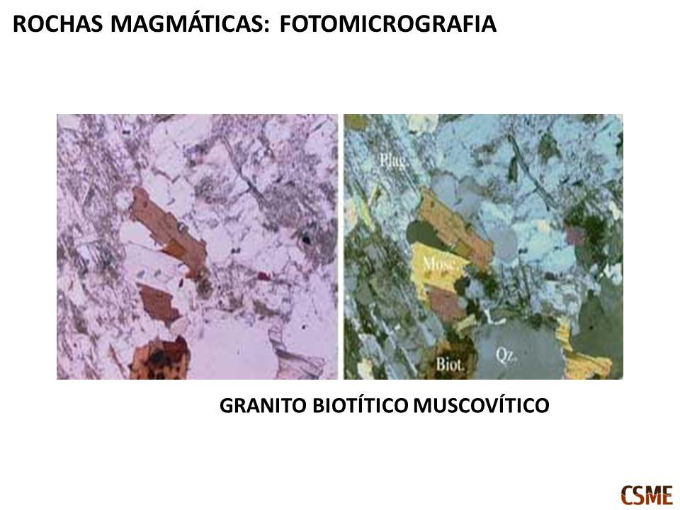 GRANITO BIOTÍTICO MUSCOVÍTICO ROCHAS MAGMÁTICAS: FOTOMICROGRAFIA
