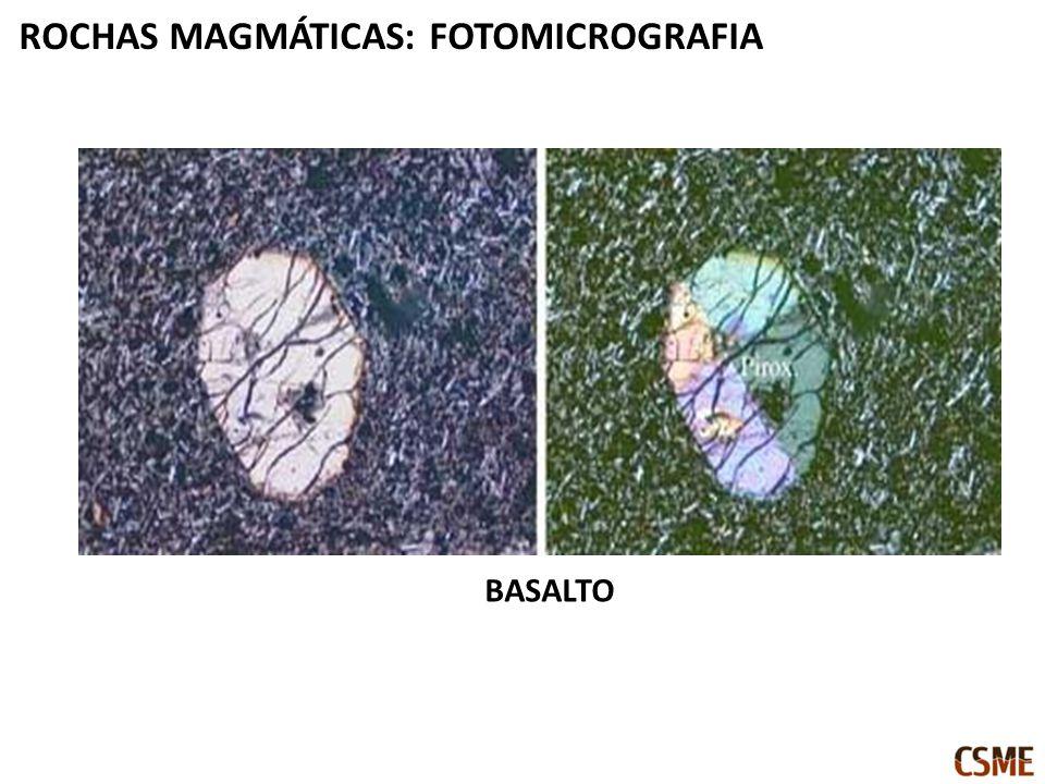 BASALTO ROCHAS MAGMÁTICAS: FOTOMICROGRAFIA