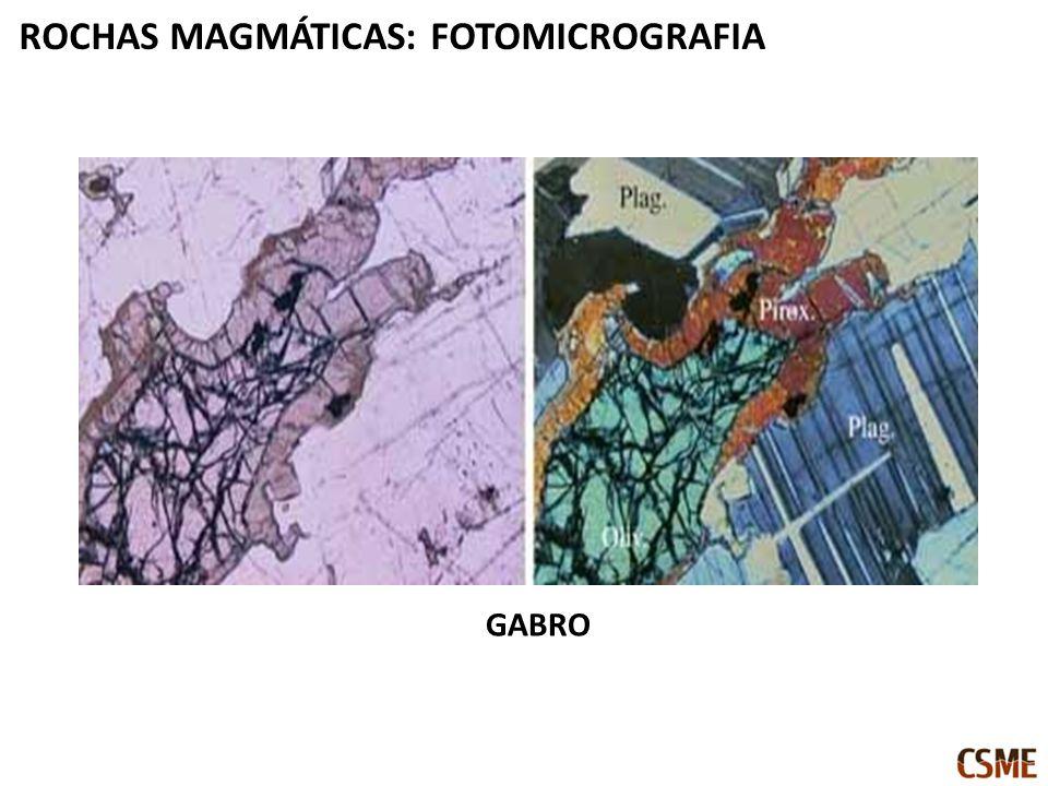 GABRO ROCHAS MAGMÁTICAS: FOTOMICROGRAFIA