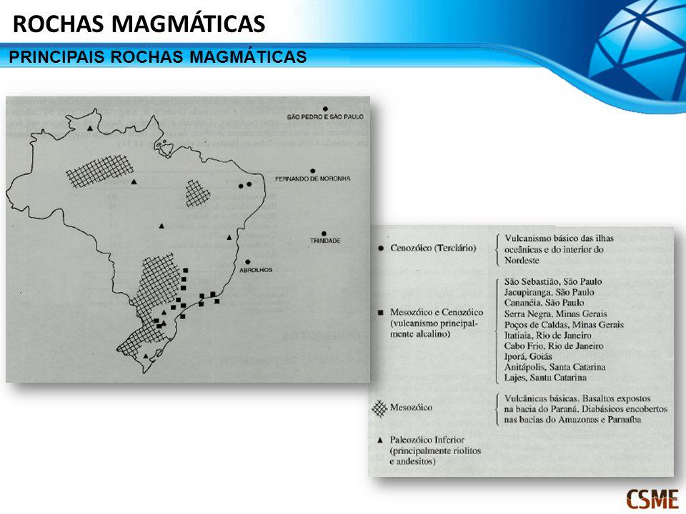 PRINCIPAIS ROCHAS MAGMÁTICAS ROCHAS MAGMÁTICAS