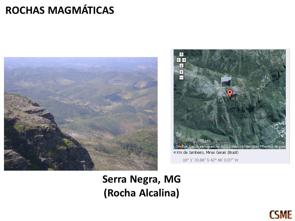ROCHAS MAGMÁTICAS Serra Negra, MG (Rocha Alcalina)