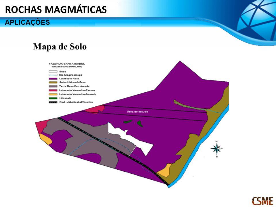 Mapa de Solo ROCHAS MAGMÁTICAS APLICAÇÕES