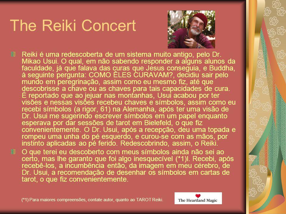 The Reiki Concert Reiki é uma redescoberta de um sistema muito antigo, pelo Dr. Mikao Usui. O qual, em não sabendo responder a alguns alunos da faculd