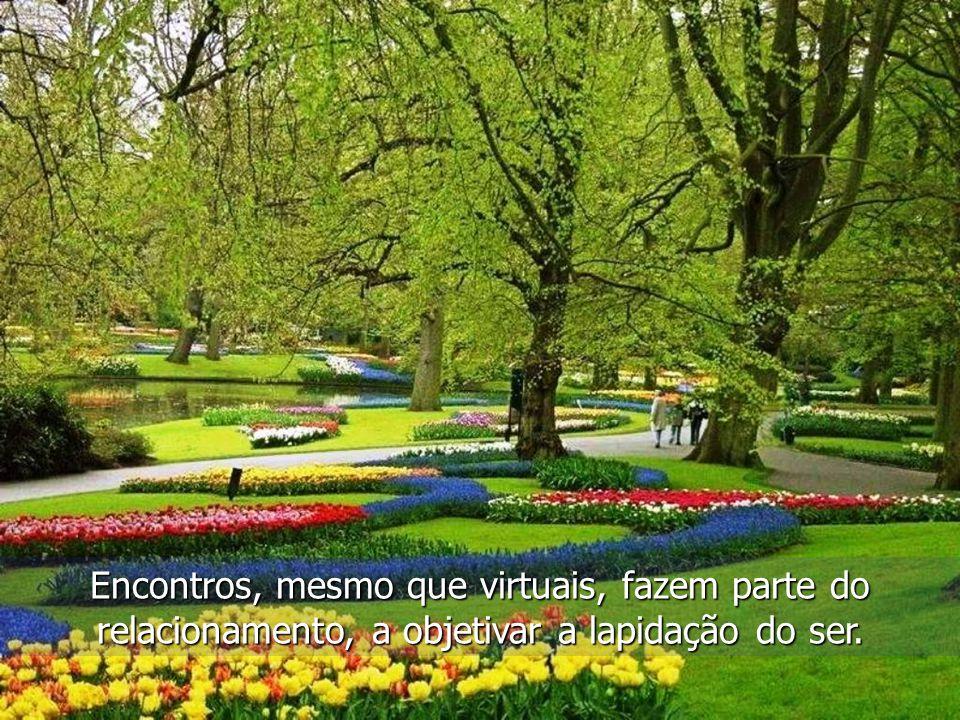 Encontros, mesmo que virtuais, fazem parte do relacionamento, a objetivar a lapidação do ser.