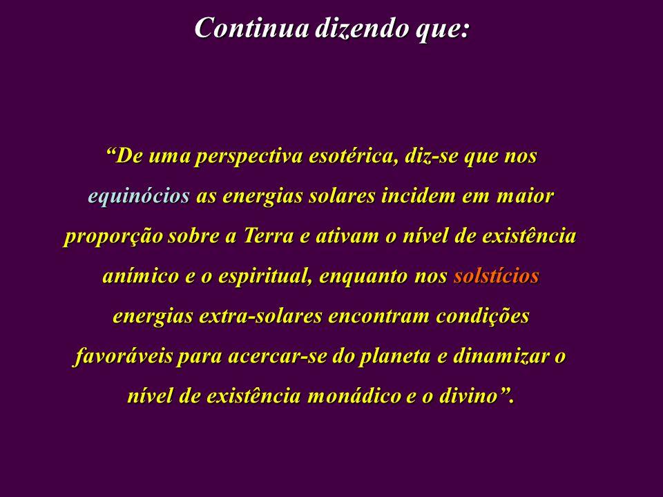 Na concepção do Glossário Esotérico, obra assinada por Trigueirinho, solstício é: Período em que o Sol... se encontra mais afastado do equador celeste