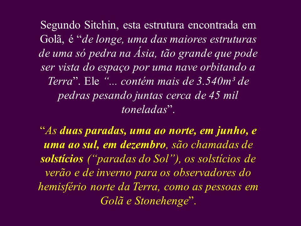 No livro O Código Cósmico, o historiador e pesquisador da NASA, Zecharia Sitchin, demonstra que além do observatório astronômico de Stonehenge, há out