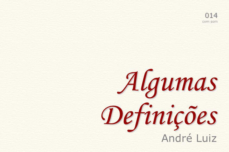 Algumas Definições 014 com som André Luiz
