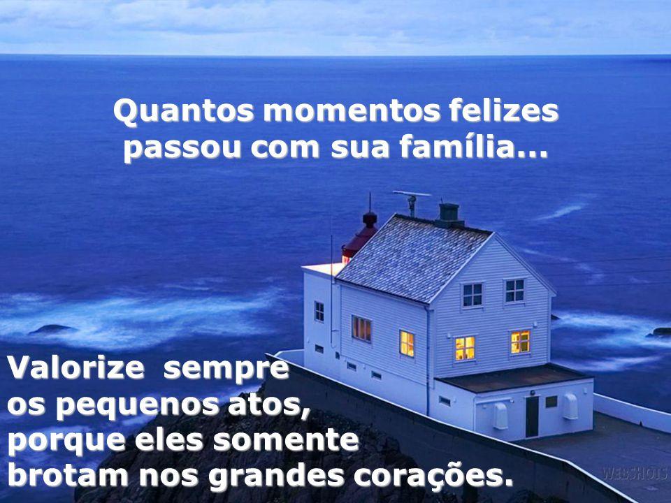 Quantos momentos felizes passou com sua família...