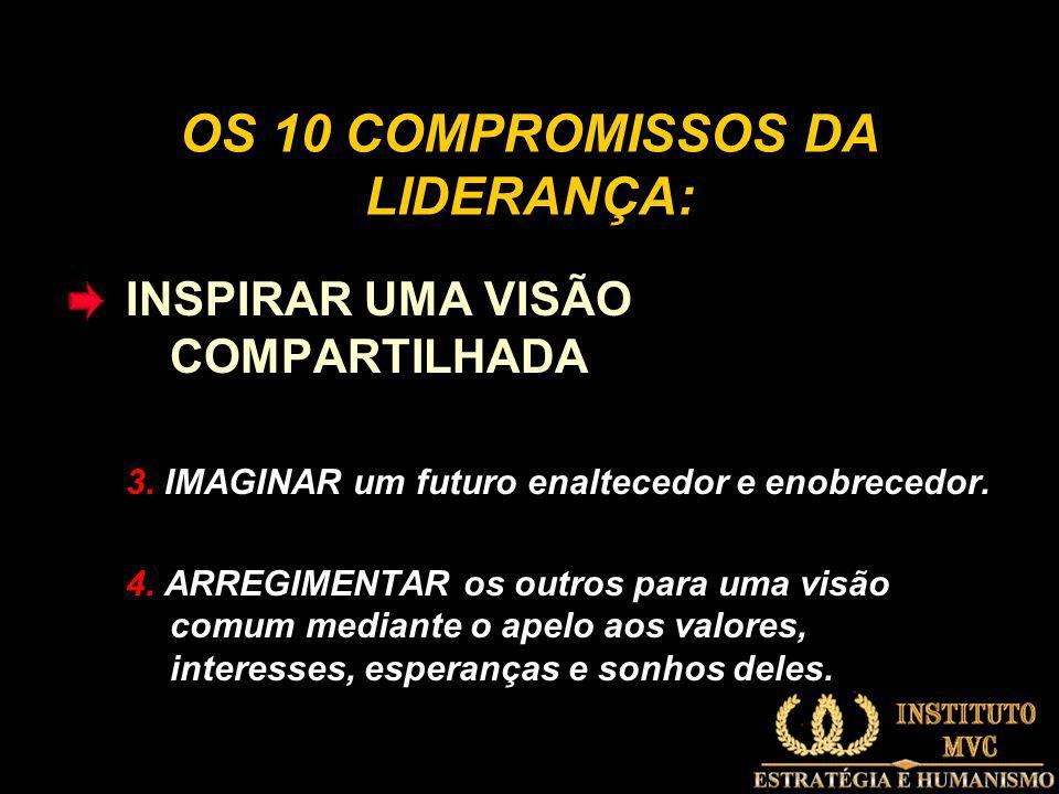 OS 10 COMPROMISSOS DA LIDERANÇA: INSPIRAR UMA VISÃO COMPARTILHADA 3.