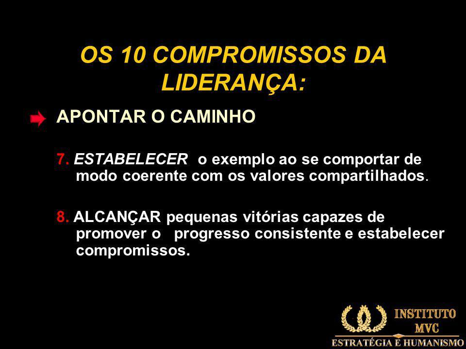 OS 10 COMPROMISSOS DA LIDERANÇA: APONTAR O CAMINHO 7.