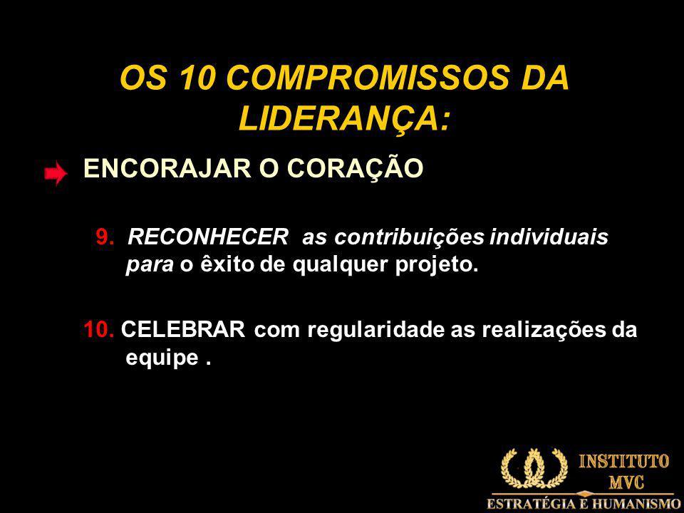 OS 10 COMPROMISSOS DA LIDERANÇA: ENCORAJAR O CORAÇÃO 9.