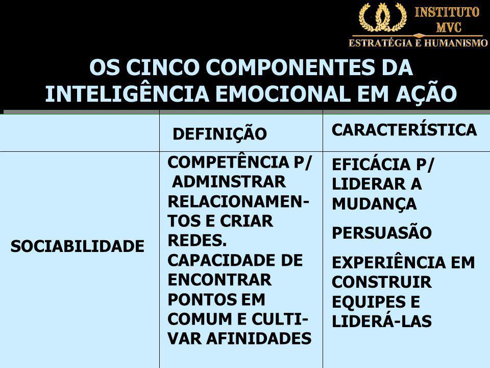 DEFINIÇÃO CARACTERÍSTICA COMPETÊNCIA P/ ADMINSTRAR RELACIONAMEN- TOS E CRIAR REDES.