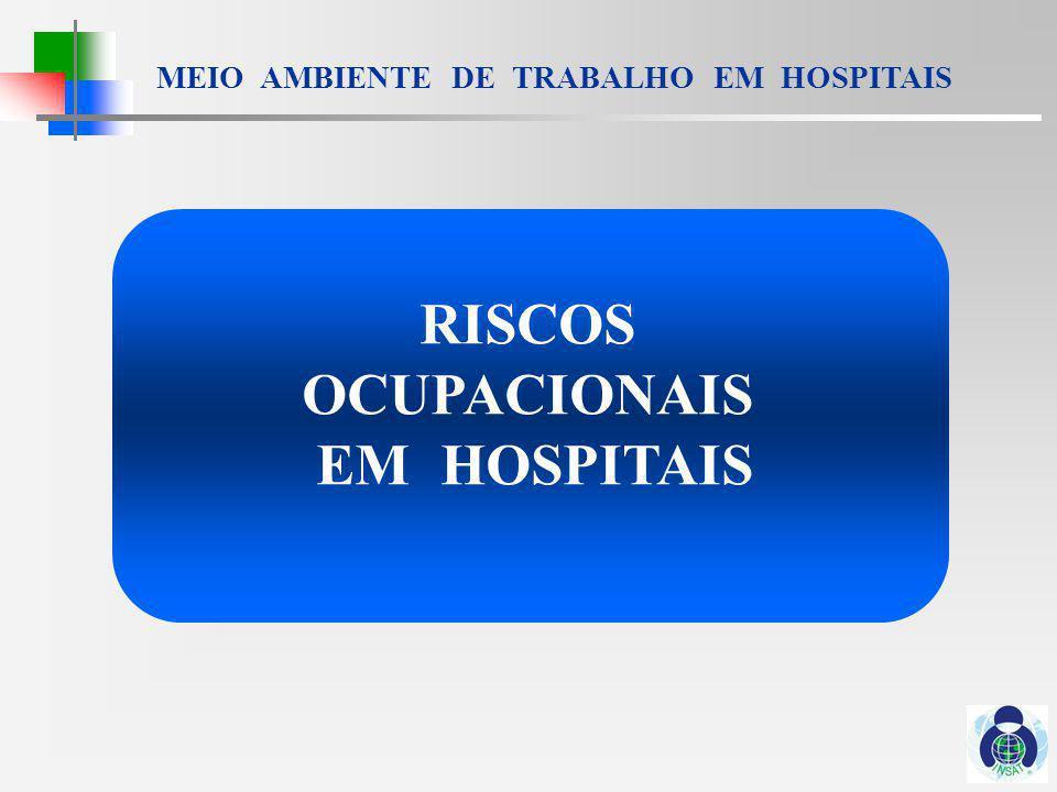 MEIO AMBIENTE DE TRABALHO EM HOSPITAIS RISCOS BIOLÓGICOS HEPATITE A, B, C, D, E HIV / AIDS CYTOMEGALOVIRUS INFECÇÃO GASTRO-INTESTINAL HERPES SIMPLES INFLUENZA PARVOVIRUS B 19 RUBÉOLA