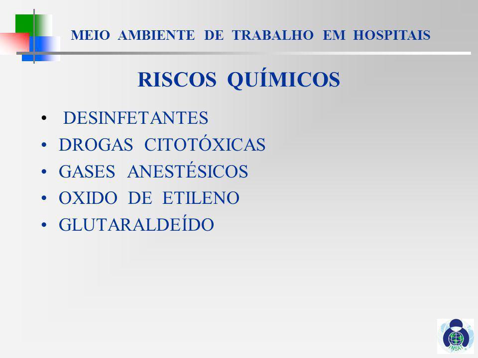 MEIO AMBIENTE DE TRABALHO EM HOSPITAIS RISCOS ESPECIAIS TRABALHO NOTURNO / EM TURNOS TRABALHO EM ODONTOLOGIA TRABALHO EM LABORATÓRIO LIXO HOSPITALAR