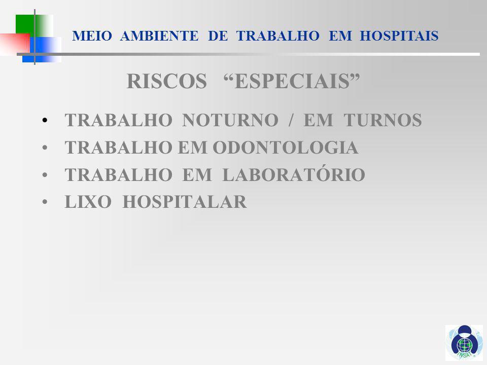 MEIO AMBIENTE DE TRABALHO EM HOSPITAIS PORTARIA 37 NR 32