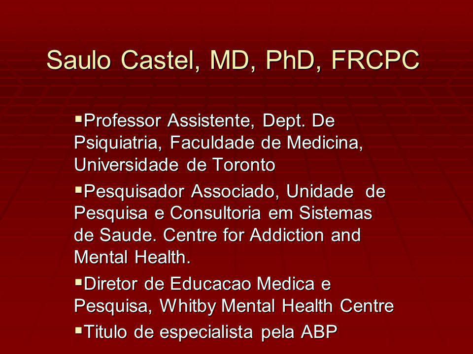 Saulo Castel, MD, PhD, FRCPC Professor Assistente, Dept.