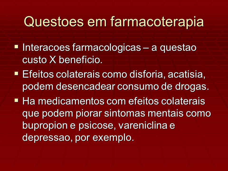 Interacoes farmacologicas – a questao custo X beneficio.