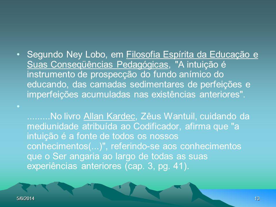 5/6/201413 Segundo Ney Lobo, em Filosofia Espírita da Educação e Suas Conseqüências Pedagógicas,
