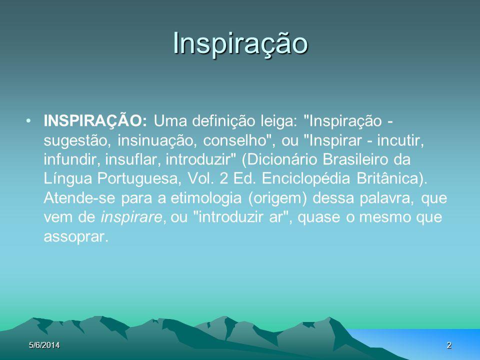 2 Inspiração INSPIRAÇÃO: Uma definição leiga: