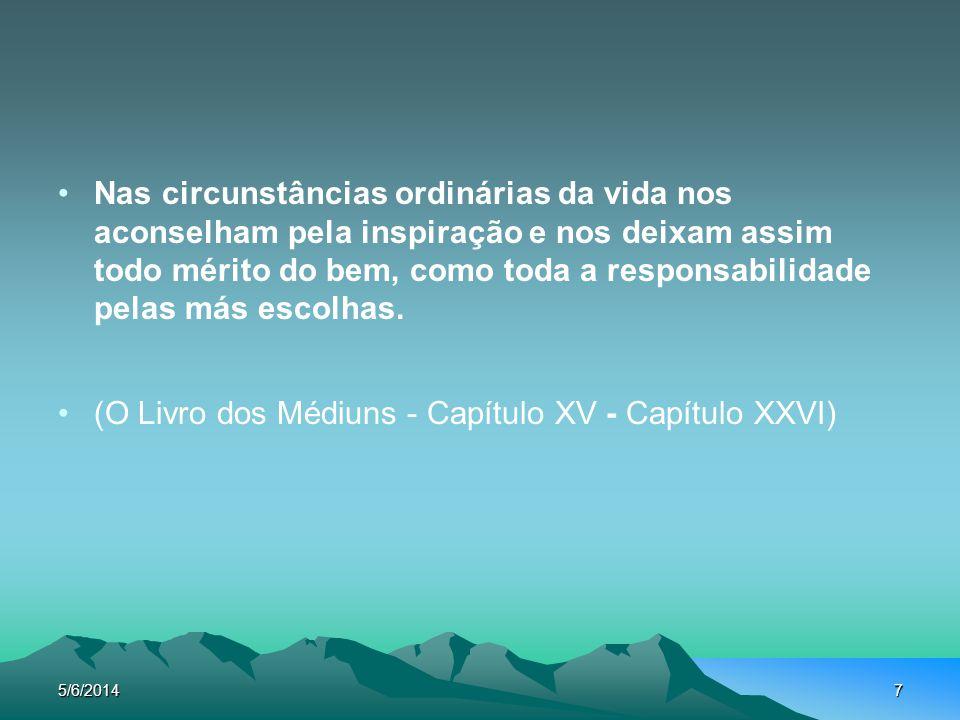 5/6/20148 A inspiração é a equipe dos pensamentos alheios que aceitamos ou procuramos (Seara dos Médiuns, Faixas , Emmanuel.