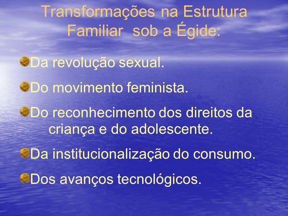 Transformações na Estrutura Familiar sob a Égide: Da revolução sexual. Do movimento feminista. Do reconhecimento dos direitos da criança e do adolesce