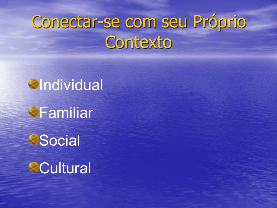 Conectar-se com seu Próprio Contexto Individual Familiar Social Cultural