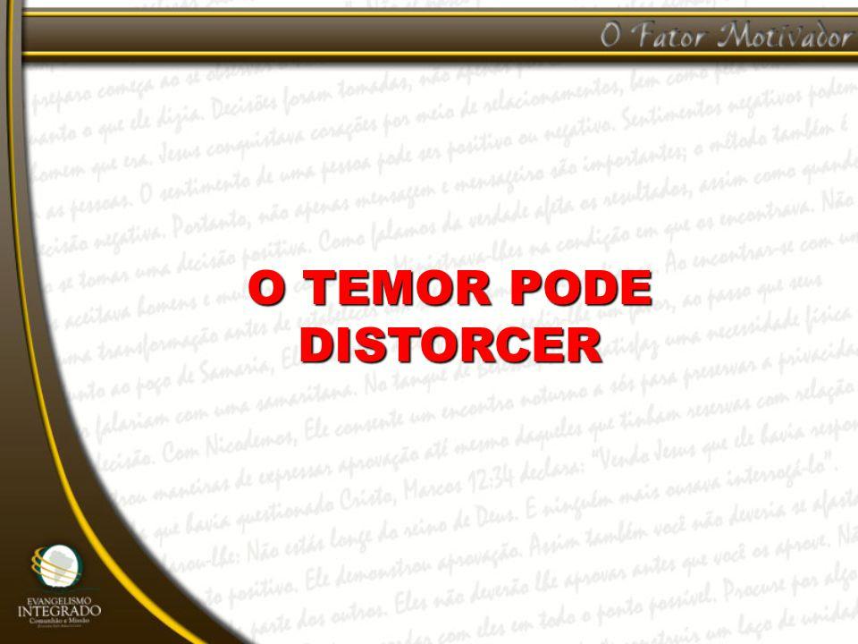 O TEMOR PODE DISTORCER